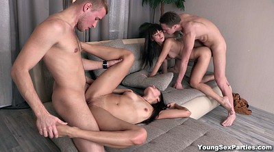 Kiss, Teen party, Foursome