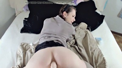 Dad, Teen amateur, Cum on ass