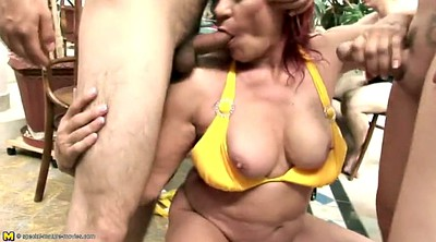 Piss, Young, Matures, Granny and boys, Grandmother