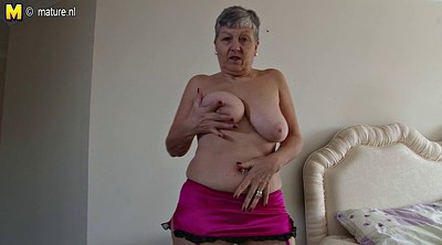 Big breast, Lady, British granny