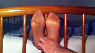 Tickle, Tickling, Nylon feet, Nylon foot fetish, Feet foot