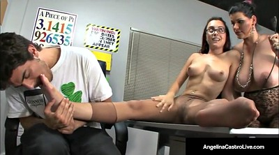 Student, Foot job, Angelina, College teacher
