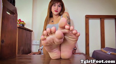 Asian feet, Toes, Shemale feet, Feet tease