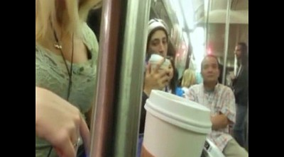 Blonde, Subway, Downblouse