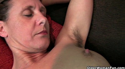 Mom, Hairy mom, British, Hairy mature