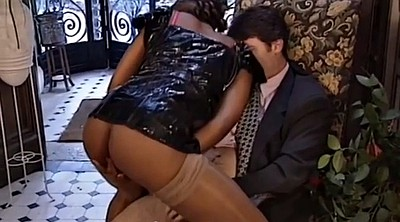 Pantyhose ass, French anal, Ebony anal, Black pantyhose