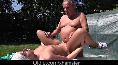 Granny bbw, Fat blonde, Teen old, Old fat, Garden, Fat pussy