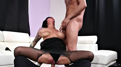 Blindfolded, Friend anal, Double blowjob