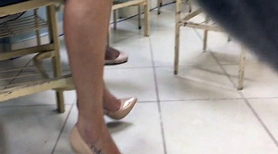Voyeur, Tatoo, High-heeled, Feet candid