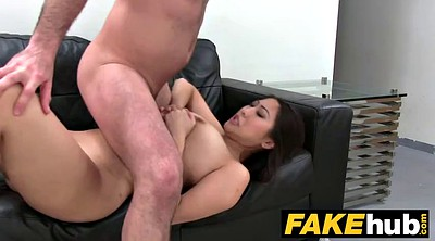 Agent, Fake agent, Fake tits, Casting couch, Big fake tits, Asian casting