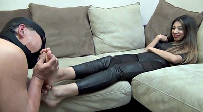 Latex fetish, Feet slave, Clean