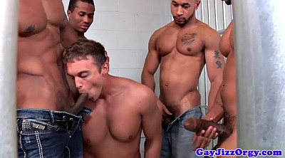 Prison, Black muscle, Ebony muscle, Cums, White black