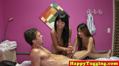 Threesome asian, Asian massage