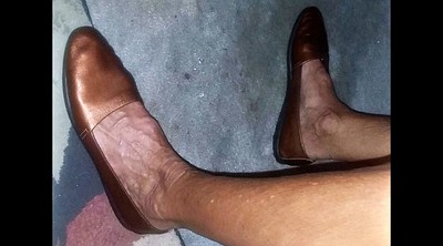 Mature feet, Granny masturbation