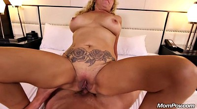Mature big tits, Cream pie, Anal mature