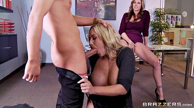 Julia ann, Pussy eating, Olivia austin, Austin, Office threesome, Office lesbian