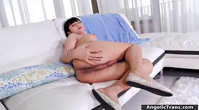 Asian shemale, Asian handjob