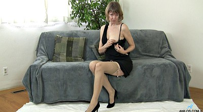 Stockings solo, Stockings masturbating, Mature solo