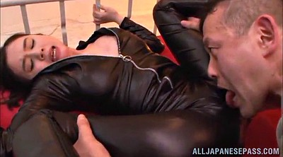 Leather, Suit, Nipple lick, Lick nipple