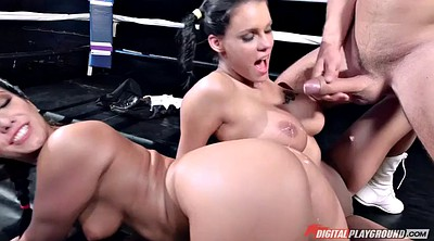 Ring, Pigtail, Box, Asian threesome