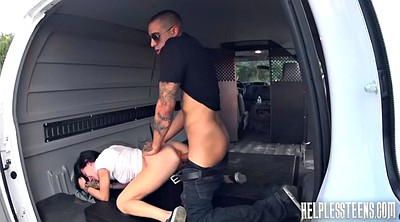 Bondage, Tied, Tied up, Tied tits, Fuck in car, Car blowjob