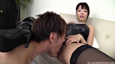 Japanese handjob, Stocking, Leather, Japanese stocking, Nylon handjob, Japanese nylon