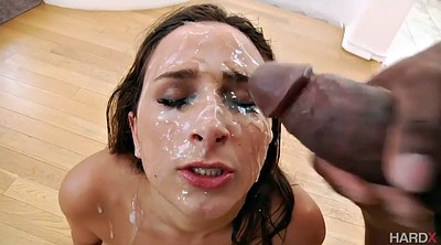 Interracial cum, Ebony cum in mouth