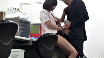 Japanese office, Japanese pantyhose, Japanese handjob, She