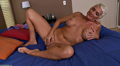 Solo milf, Milf solo, Shorts, Short hair, Blonde solo
