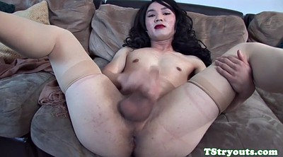 Casting, Ladyboy, Asian ladyboy, Shemale solo, Solo shemale, Asian casting