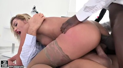 Threesome, Lady, Black anal, Anal blonde