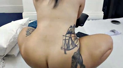 Webcam ass, Bbw solo, Ass tattoo