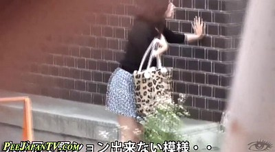 Pissing, Japanese beauty, Japanese public