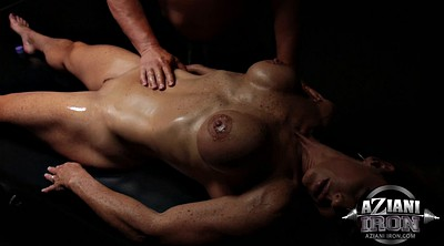 Busty oil, Oiled, Sexy massage