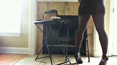 Black foot, Pantyhose feet