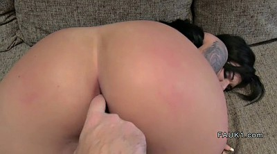 Agent, Fake anal, British casting, Big c