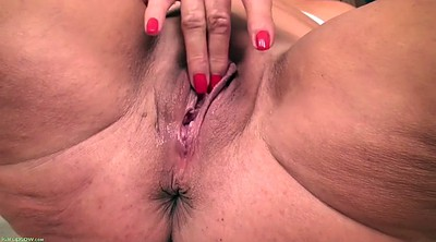 Wet, Busty, Solo grannies, Mature orgasm