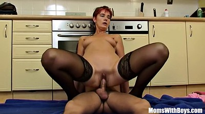 Mature anal, In kitchen, Stocking anal, Mature stockings, Lingerie anal, Mature stocking