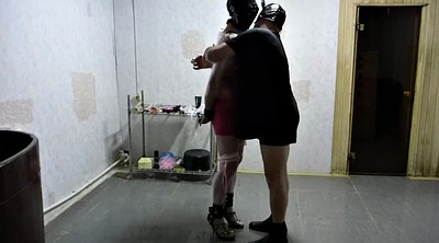 Bondage, Cuckold slave, Crossdressing