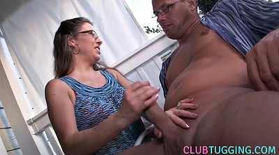 Jerk, Mature handjob, Wife handjob