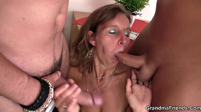 Sexy granny, Old young threesome, Mature old