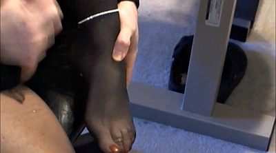 Nylon feet, Crossdresser, Nylon anal, Sexy leg, Crossdress, Gay feet