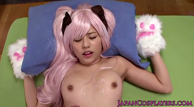 Japanese cosplay, Yuna, Asian cosplay, Cum on pussy
