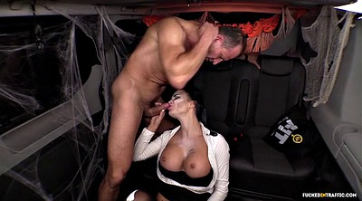 Police, Jasmine jae, Jasmine, Jae, Halloween, Fucking in a car