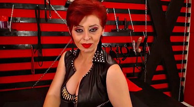 Smoking, Seduction, Red head, Latex femdom