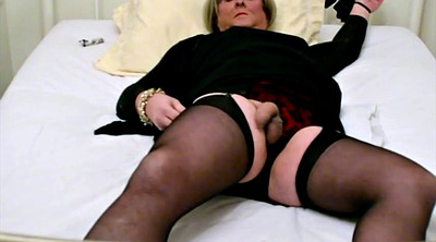 Stockings, Cum stockings, Self bondage