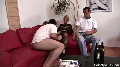 Czech wife, Blondes cuckold, Watching wife, Cuckold granny