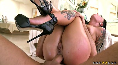 Reverse cowgirl, High heels