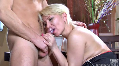 Matures, Young blond, Glass
