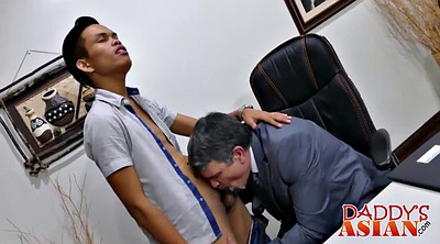 Daddy gay, Asian blowjob